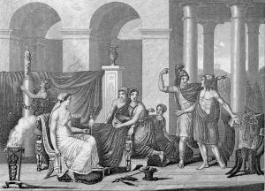 Greek domestic scene