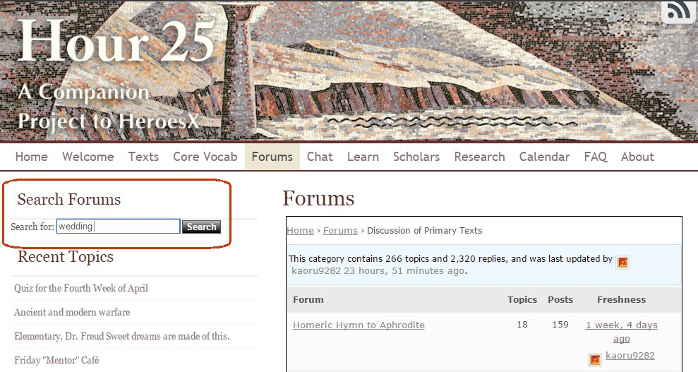 Forums home page