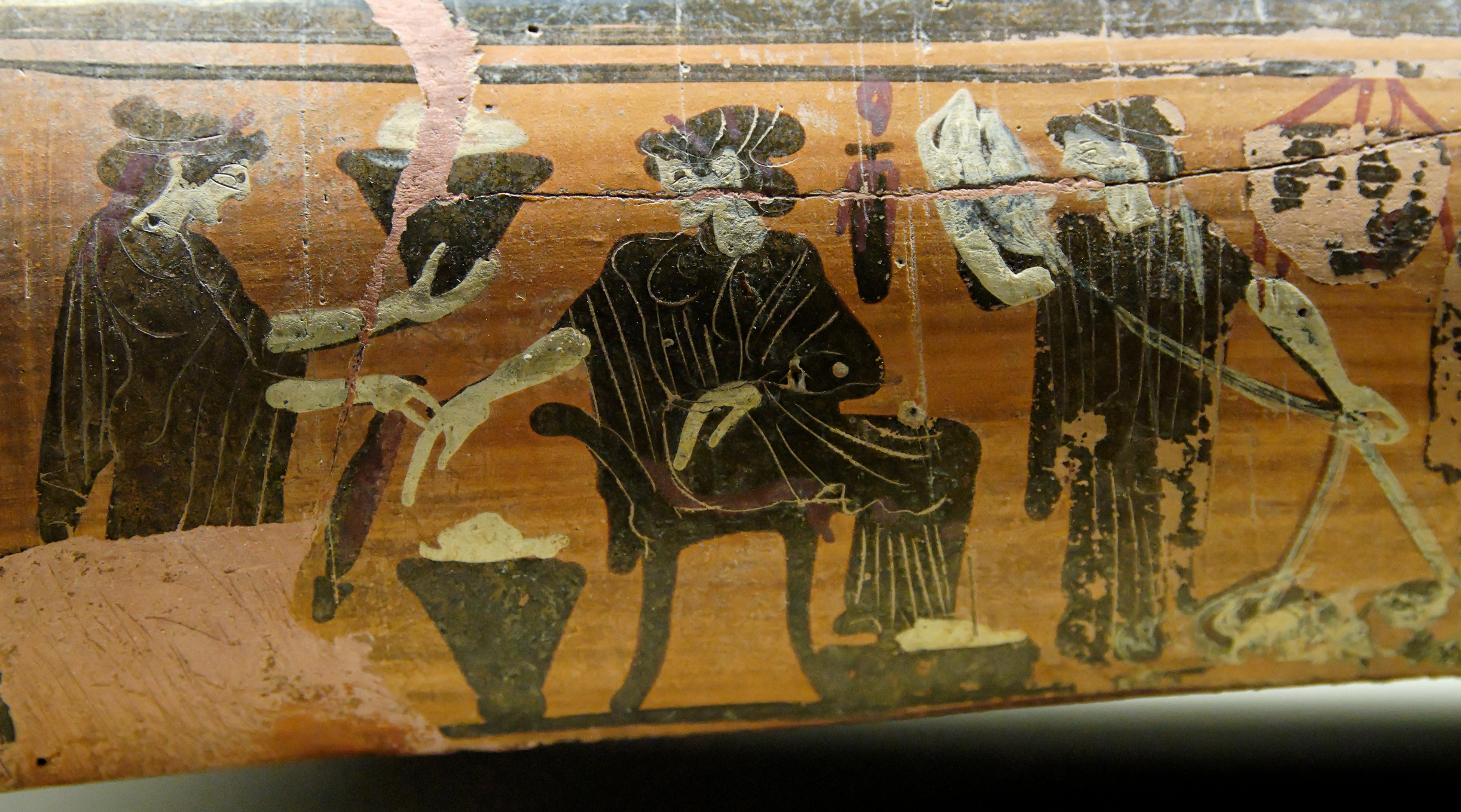 Detail from greek vase showing women preparing wool. Diosphos Painter [CC BY 2.5 (http://creativecommons.org/licenses/by/2.5)], via Wikimedia Commons