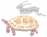 Word Cloud Aesop Hare and Tortoise