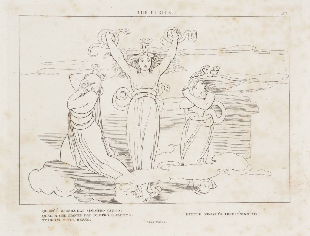 Etching of the Furies. Flaxman
