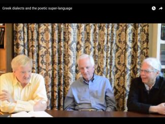 Nagy, Frame, Muellner discussing Greek dialects