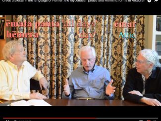 Nagy, Frame, Muellner discuss Greek dialects in Homer