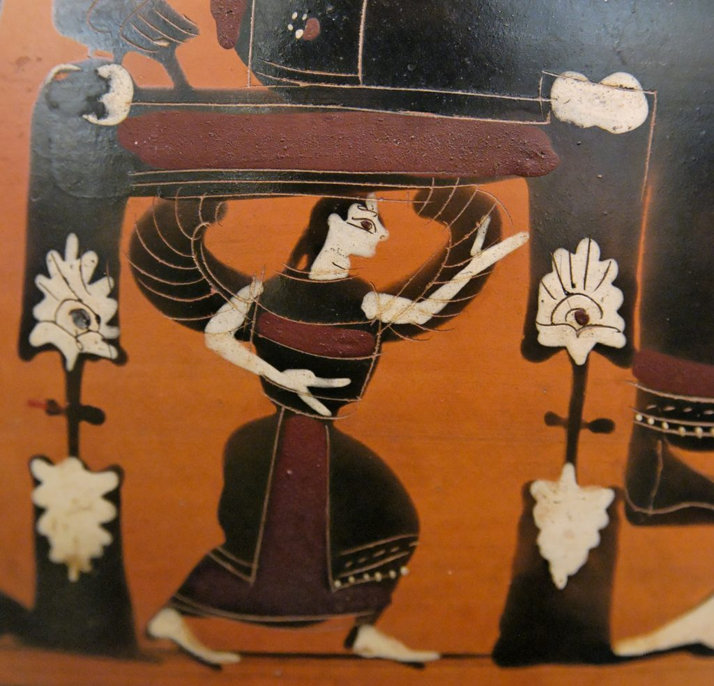 Amphora painting: winged goddess, probably Mētis