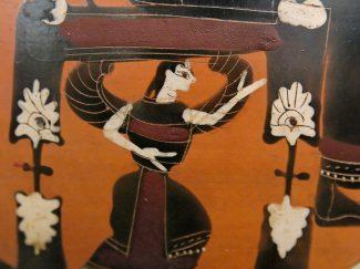 Amphora painting: winged goddess, probably Mētis