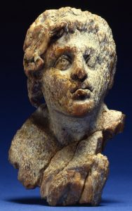 Ivory head of Alexander the Great