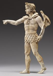 Ivory carving of satyr