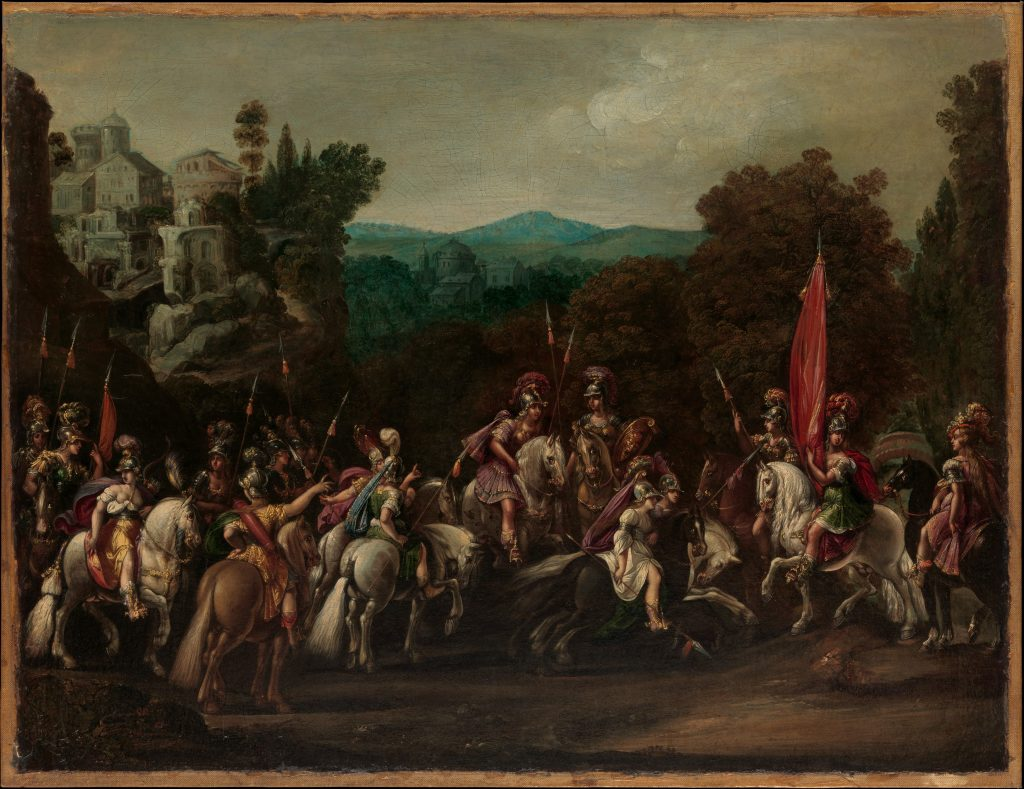 Departure of the Amazons