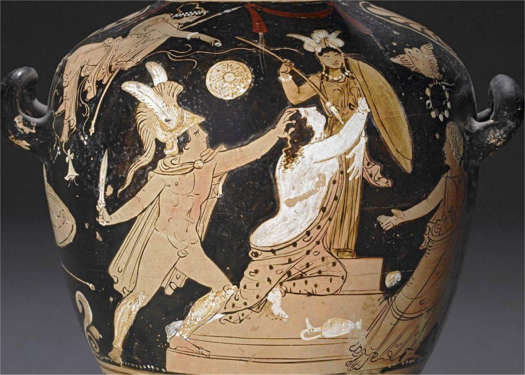 Vase painting: Ajax seizes Kassandra