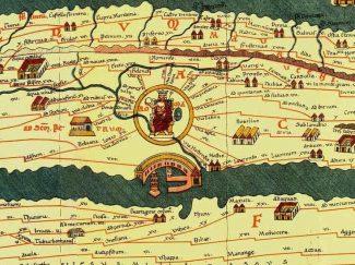 Tabula Peutingeriana: section showing Rome