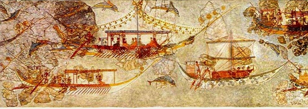 Thera flotilla fresco: theoretical ship