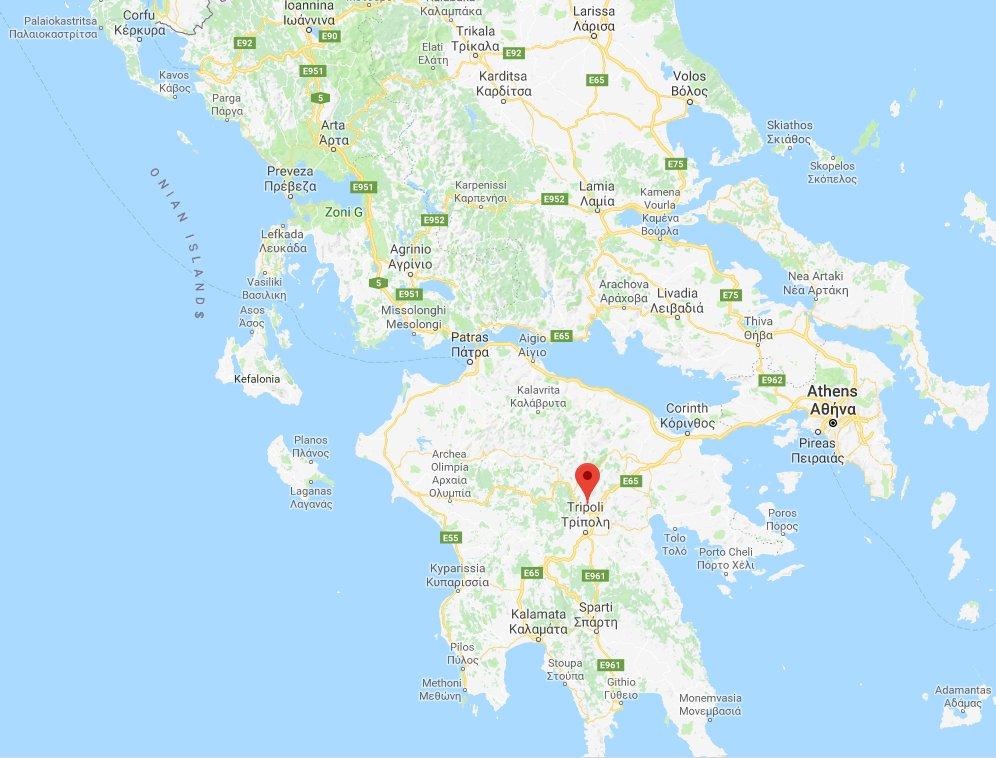 Location of Mantinea