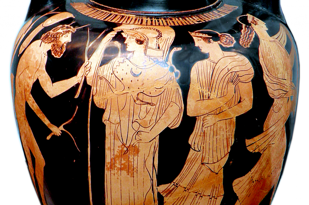 Vase painting: Odysseus and Nausicaa