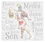 Wordcloud Jason and golden fleece