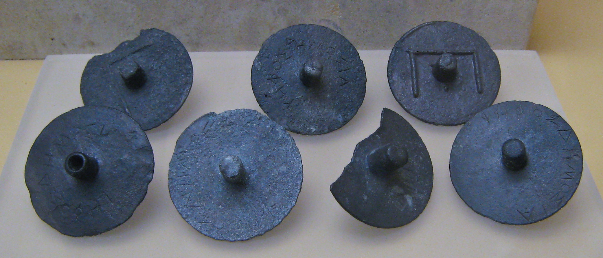Disks used for batllots