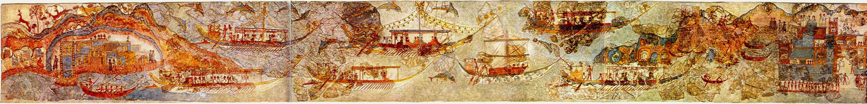 Fresco of ship procession