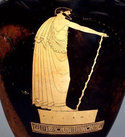 vase painting depicting rhapsode