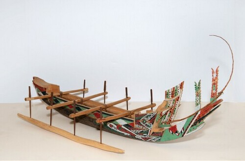 Model of ship from Papua New Guinea