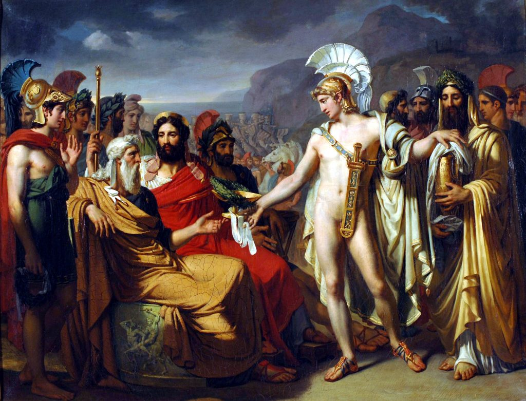 Achilles presents Nestor with a prize