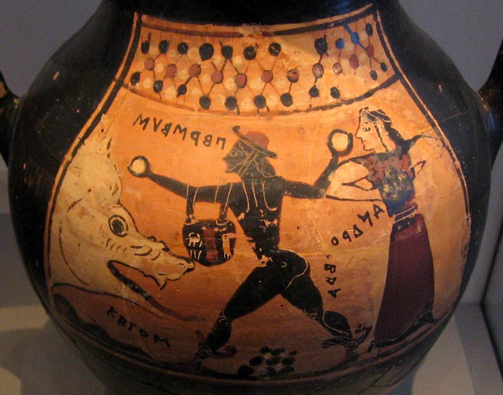 Vase: Ketos, Perseus, Andromada
