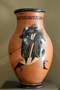 Vase painting Hermes kriophoros