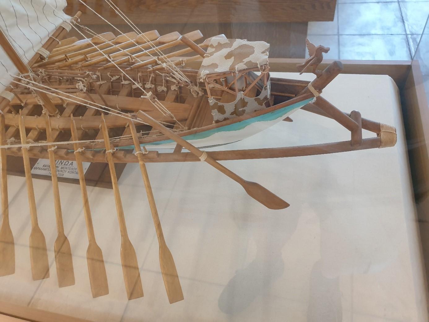 Scale model of the 'Minoa'