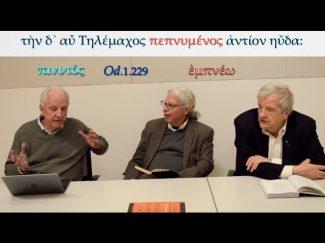 Frame, Muellner, Nagy discuss pepnumenos