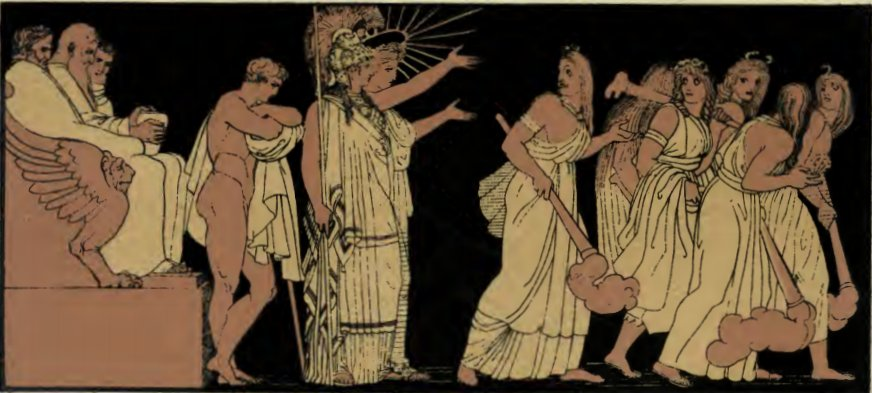 Furies and Athena