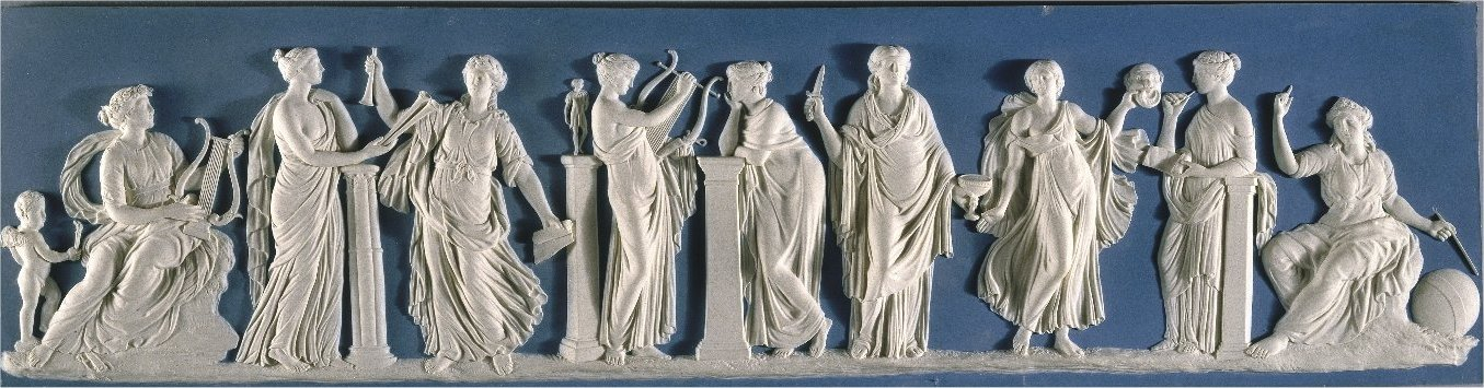 Wedgwood plaque depicting Muses