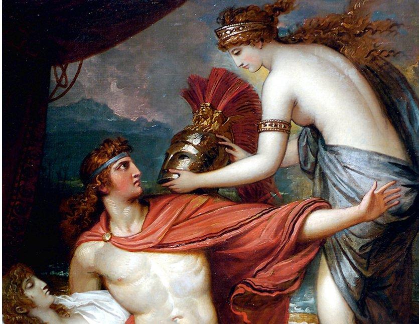 Thetis bringing armor to Achilles