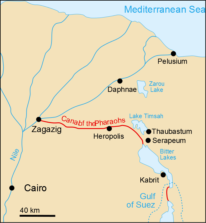 Map Canal of the Pharaohs