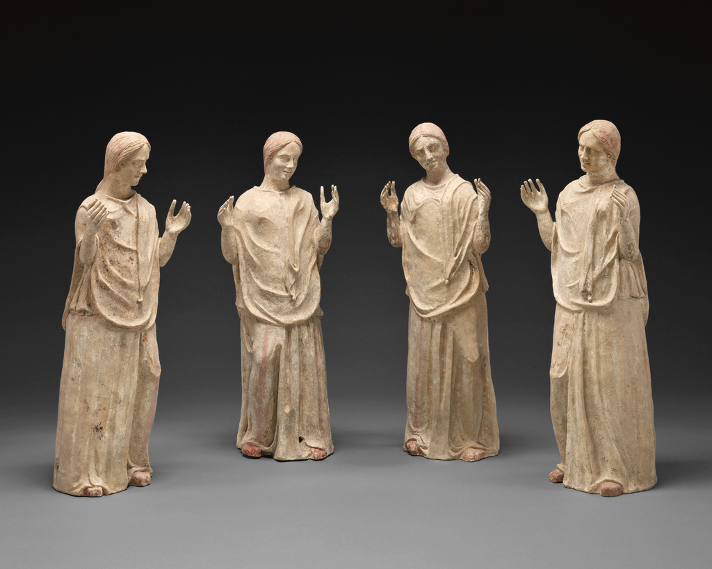 Statues of four mourning women