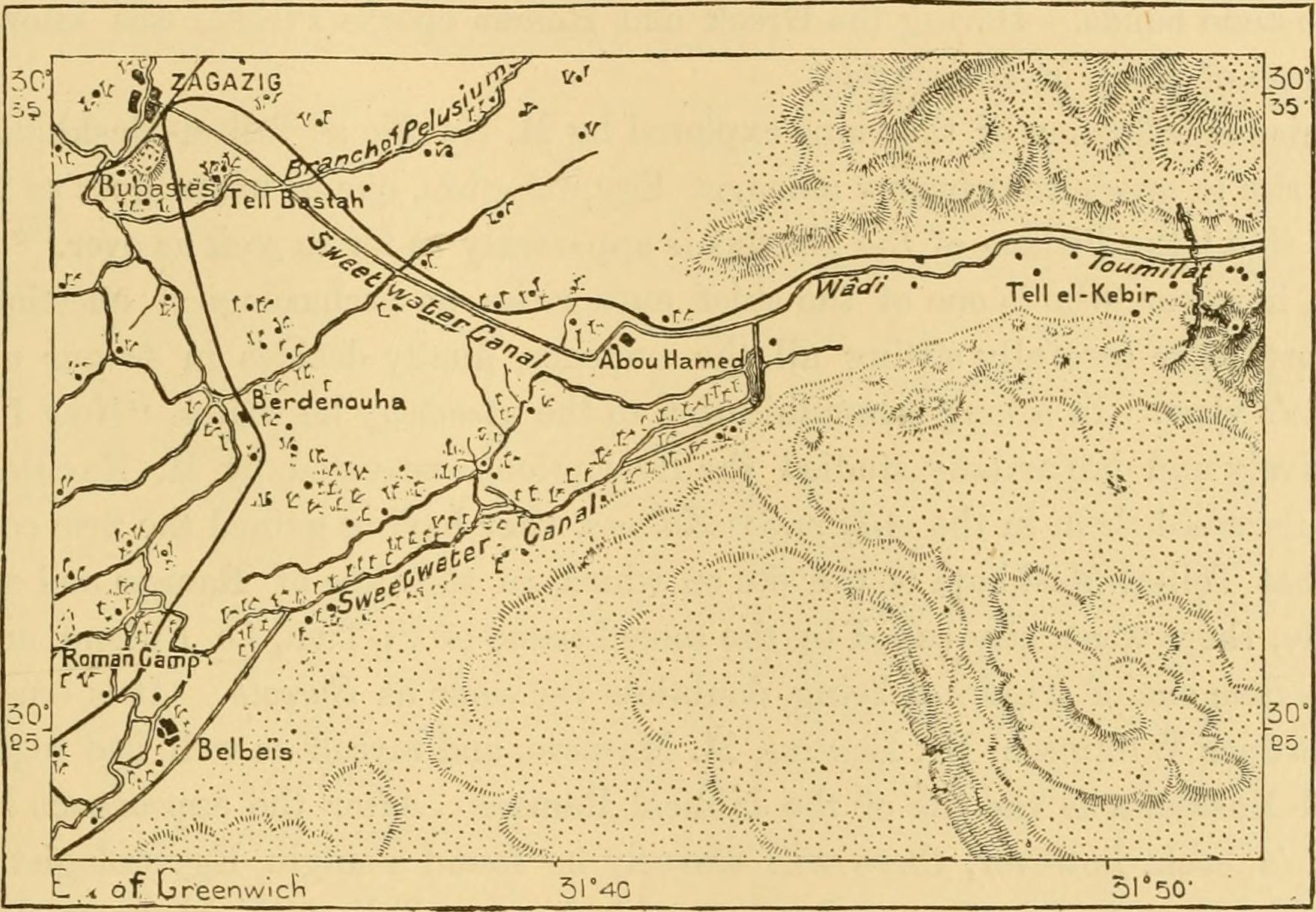 Map: Wadi Tumilat