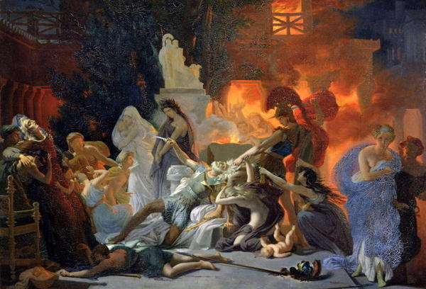 Guérin Death of Priam or Last Night of Troy