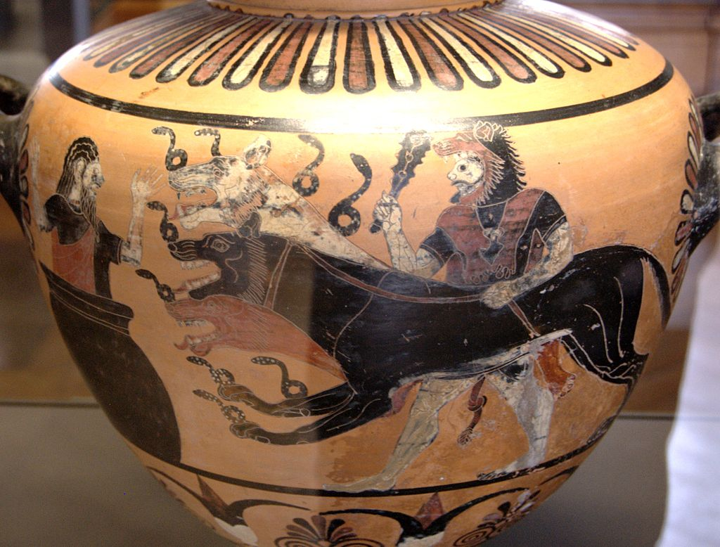 Herakles, Cerberus and Eurystheus