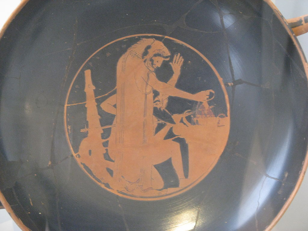 Herakles making an offering