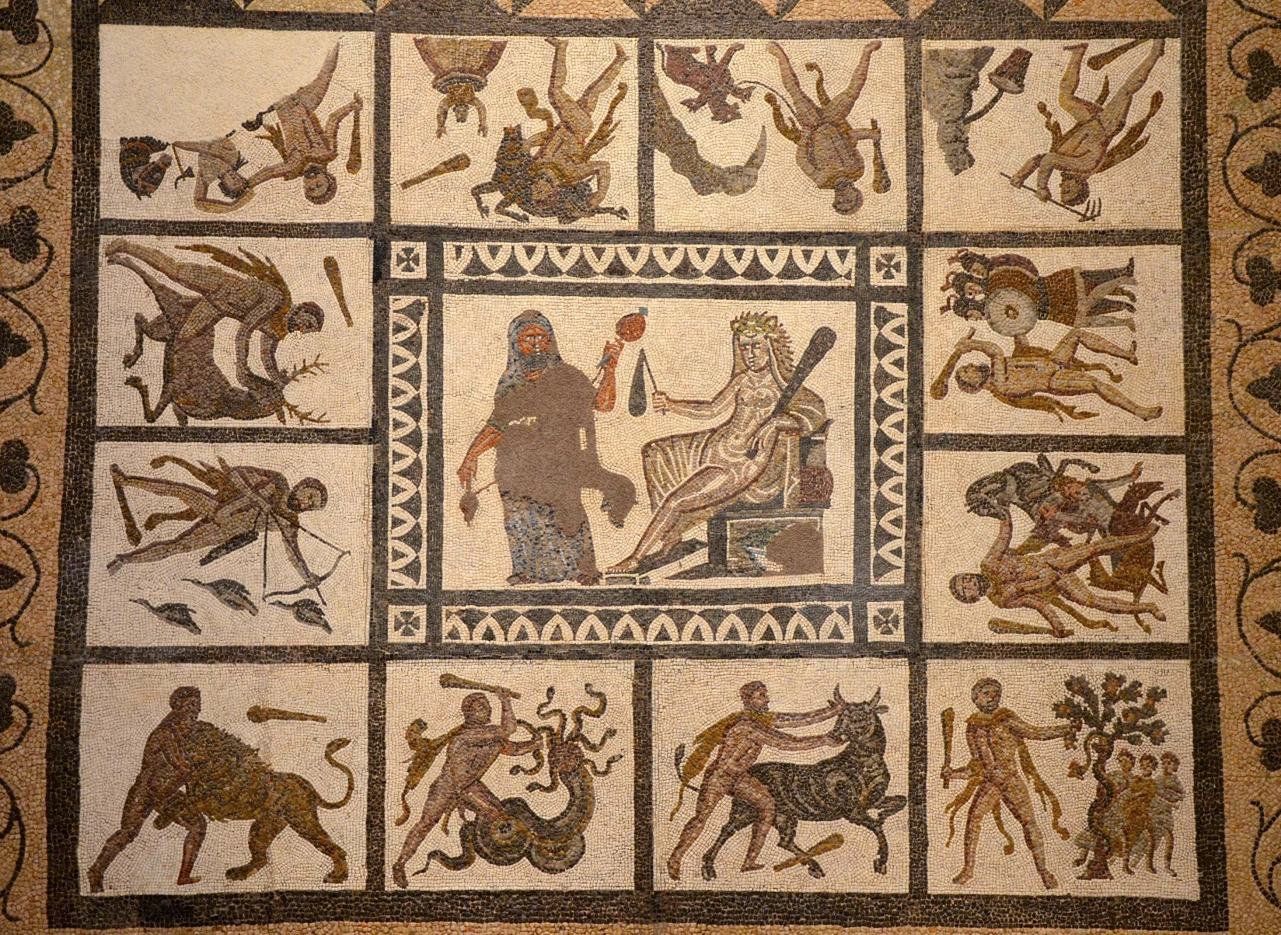 Mosaic: Labors of Hercules