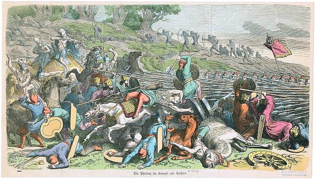 Phalanx in battle against Persians