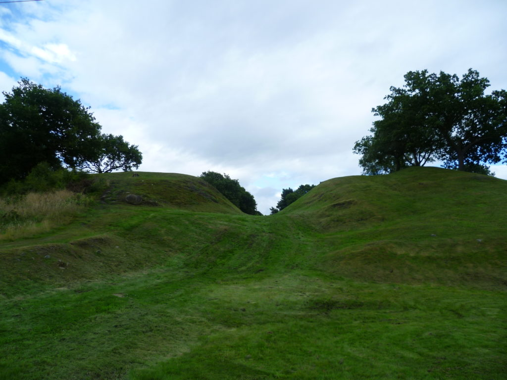 Section of Antonine Wall showing the vallum
