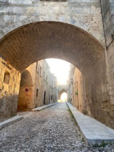 street in medieval Rhodes