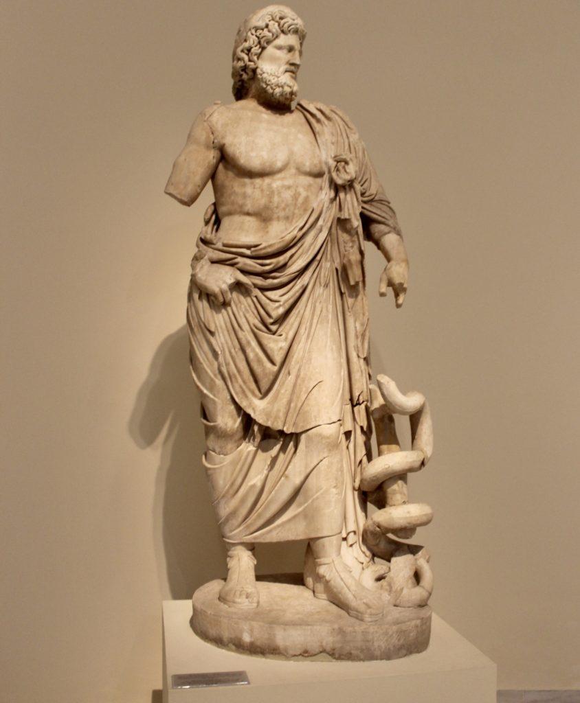 Asklepios, Pentelic Marble, found in the Sanctuary at Epidauros,