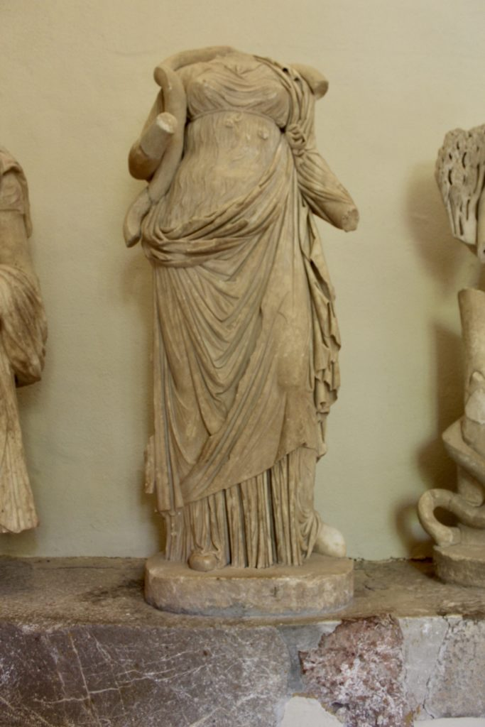 Statue of Hygeia wearing a chilton and an himation, c160CE, Epidauros