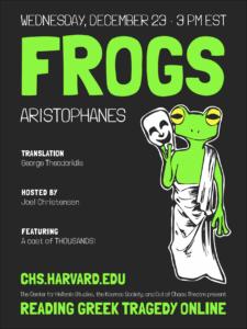 Reading Greek Tragedy Online The Frogs
