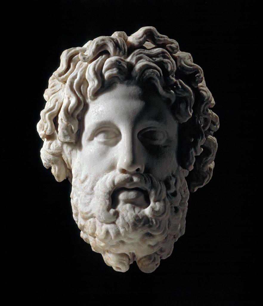 Sculpture: head of Asklepios