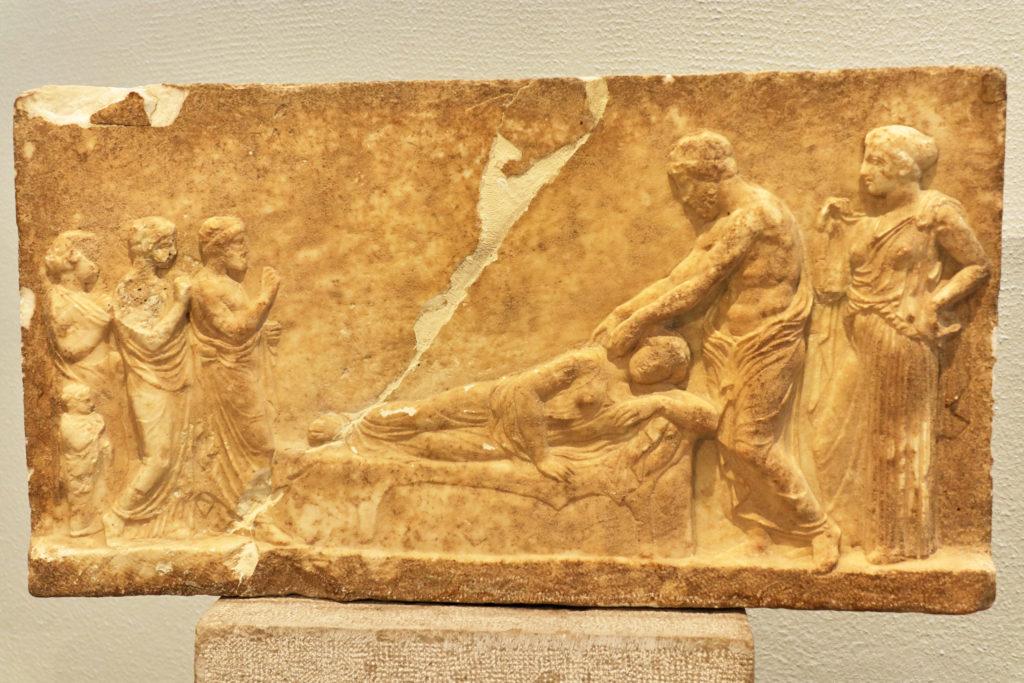 Votive relief of Asklepios