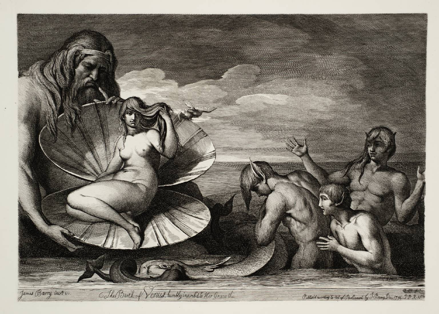 Etching: Barry The Birth of Venus