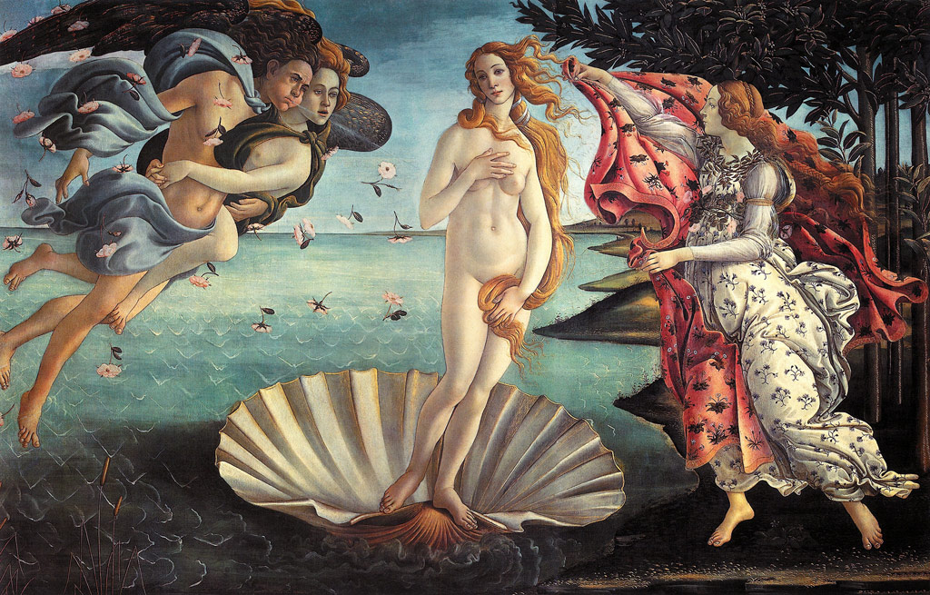 Painting: Botticelli Birth of Venus