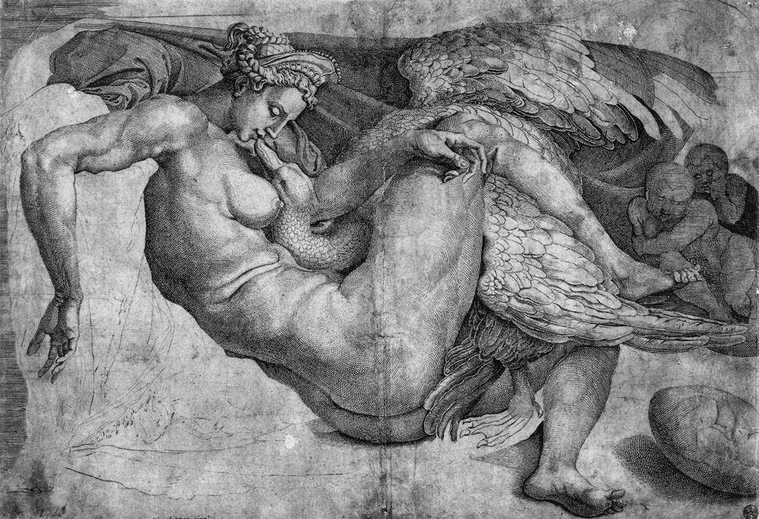 Cornelis Bos - Leda and the Swan