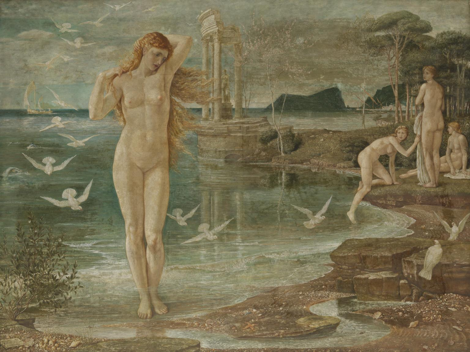Painting: Crane. The Renaissance of Venus