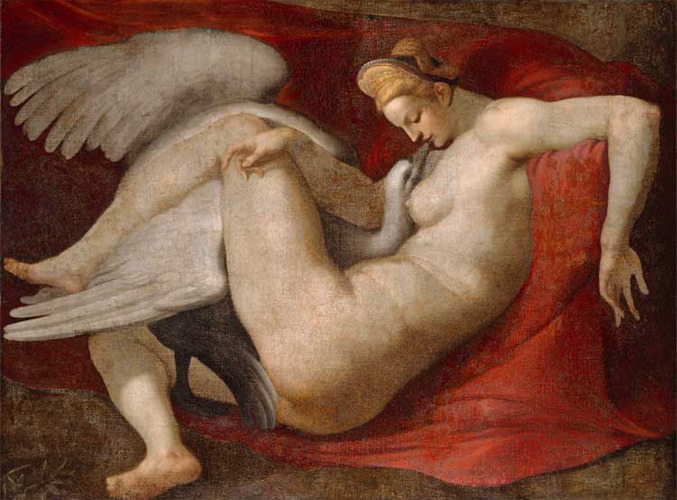 Leda and the Swan, 16th-century copy after the lost painting by Michelangelo